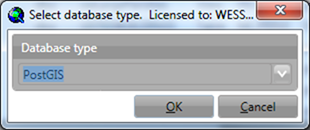 Select database type