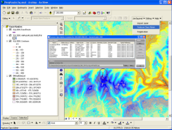 ArcMap showing the GISquirrel Feature Class Administrator